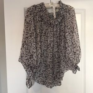 Caroline Constas oversized off the shoulder blouse